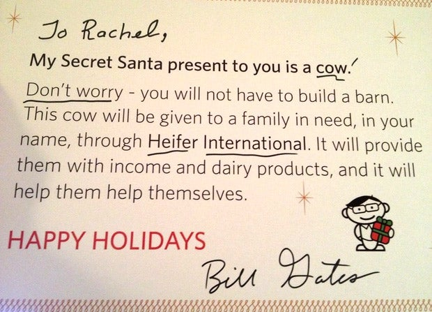 Holy Cow: Bill Gates Plays Secret Santa in Reddit Christmas Miracle