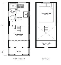 Tumbleweed Tiny House Company floor plans