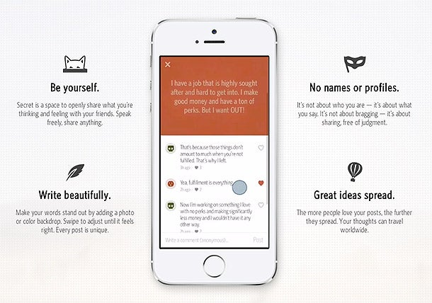 This App Lets Users Anonymously Spill Their Secrets -- And Do They Ever