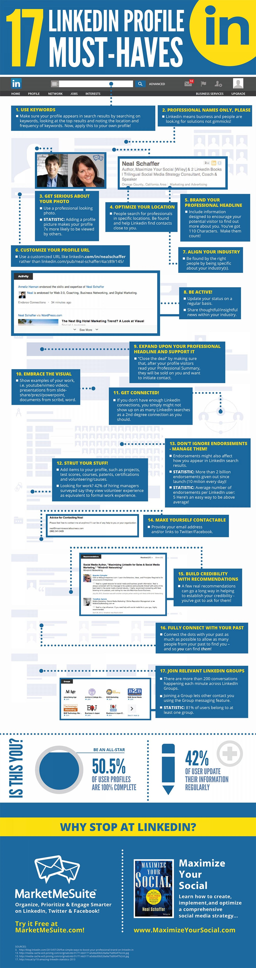 17 Must-Have Features on Your LinkedIn Profile (Infographic)