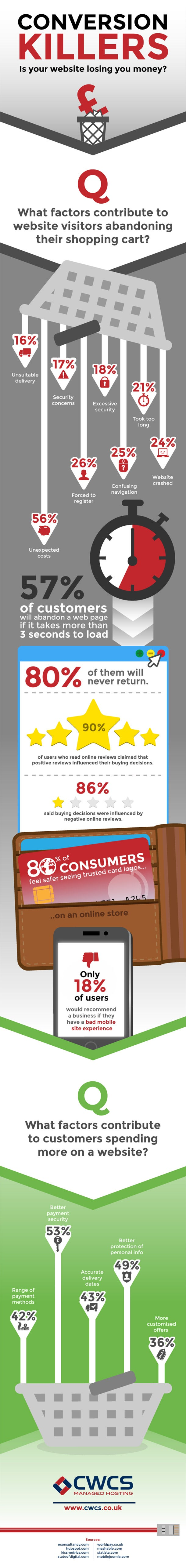 Why Your Ecommerce Site Is Losing Money (Infographic)