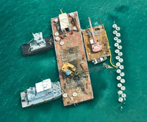 Walter Marine deploys its artificial reefs.