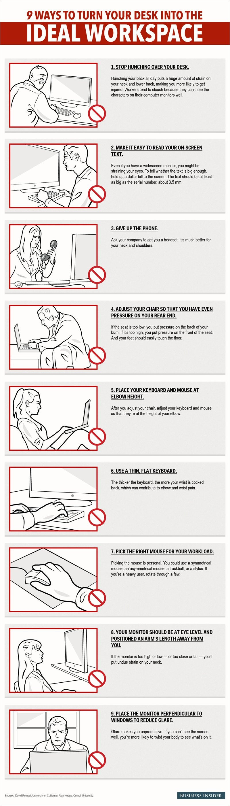 9 Ways to Turn Your Desk Into the Ideal Workspace (Infographic)