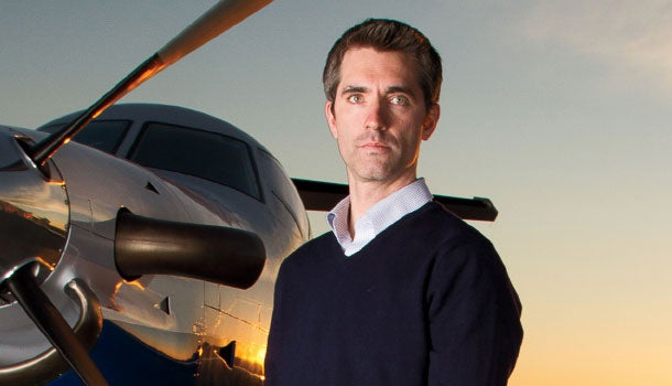 The sky's the limit: Wade Eyerly of Surf Air.