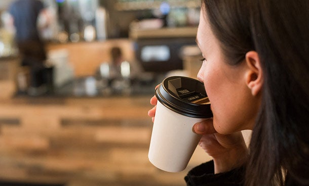 Flipping your lid: New coffee cup cover aims at your nose