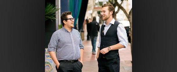 Relationship experts: SociaLink's Michael Jacobs (left) and Hector Rosales.
