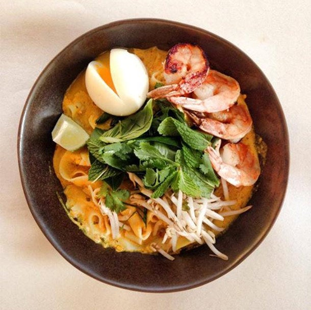 The Peached Tortilla, Laksa noodles