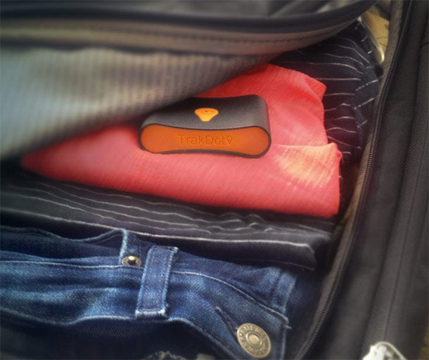 1. Trakdot Luggage Tracker