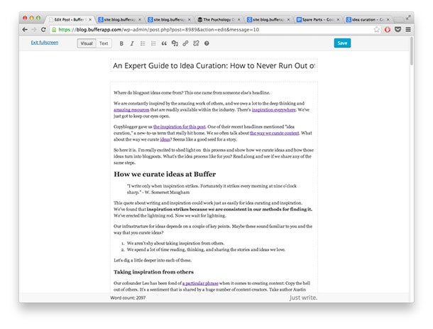 An Expert Guide to Idea Curation: How to Get More Ideas for Great Content