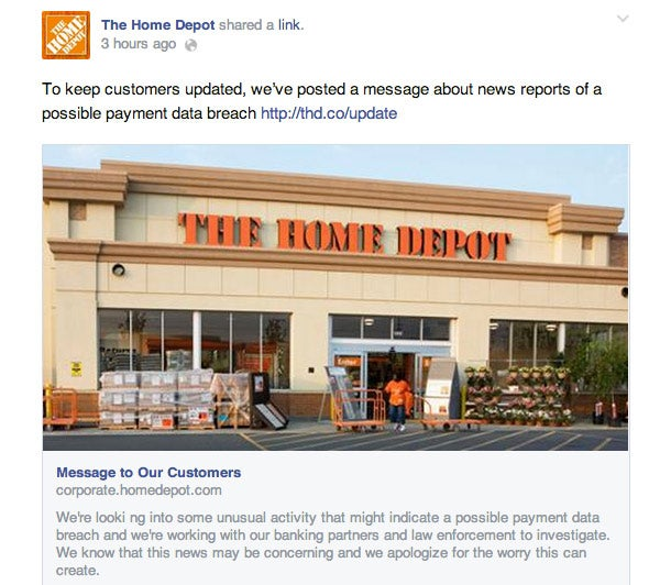 Home Depot Suffers Possible Data Breach, Tries to Ease Customer Fears