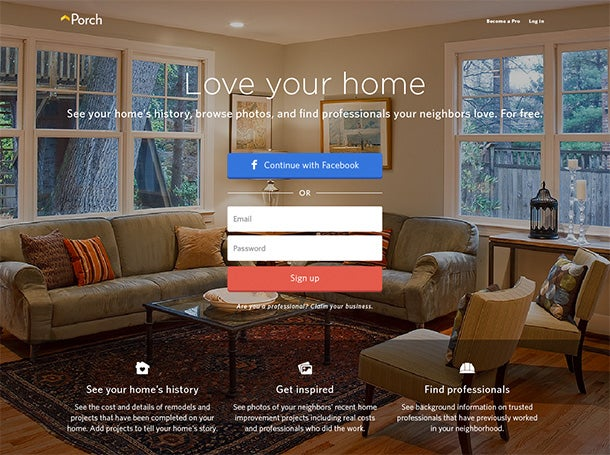 With $28 Million in New Funding, Porch Is the 1-Year-Old Startup Looking to Remodel the Home Improvement Market