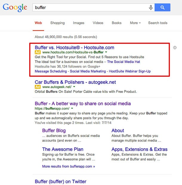 Is Paid Search Ineffective for Online Marketing?