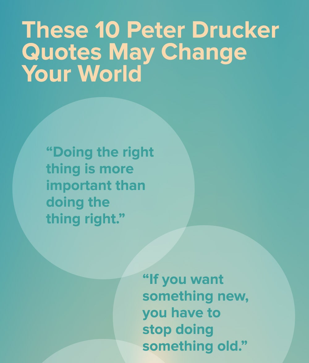 Change In Business Quotes: These 10 Peter Drucker Quotes May Change Your World