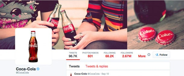 Create A Better Brand Social Media Profile - Coke