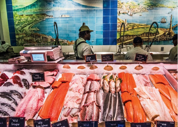 Reeling 'em in: Eataly NYC's fish counter.