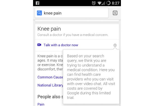 Google Is Now Connecting Users Searching for Symptoms With Doctors Over Video Chat