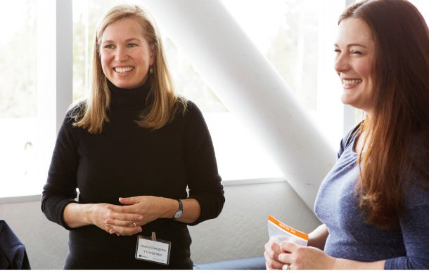 They've heard it all: Y Combinator's Jessica Livingston (left) and a colleague.