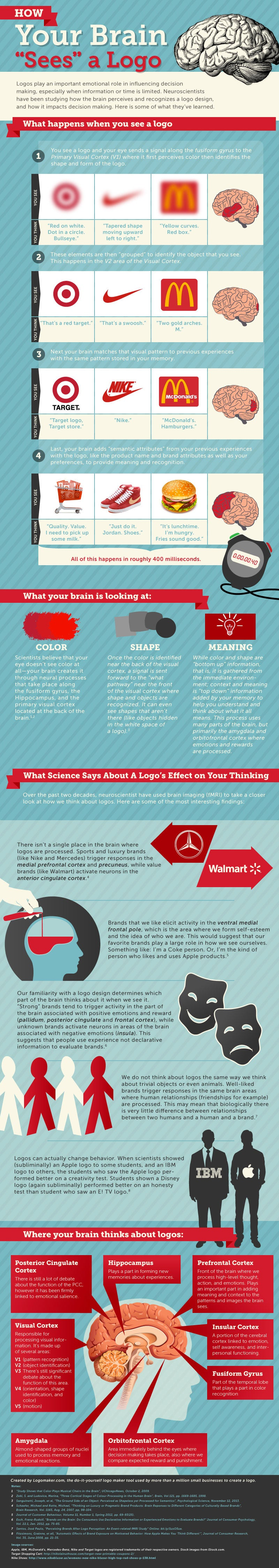 The Incredible Way Your Brain 'Sees' a Logo (Infographic)