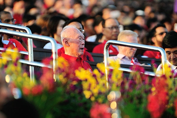 Former Prime Minister Lee Kuan Yew during National Day Parade, Singapore