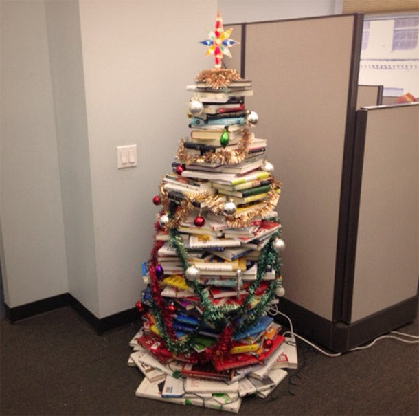 What I Learned From a Christmas Tree Made of Business Books