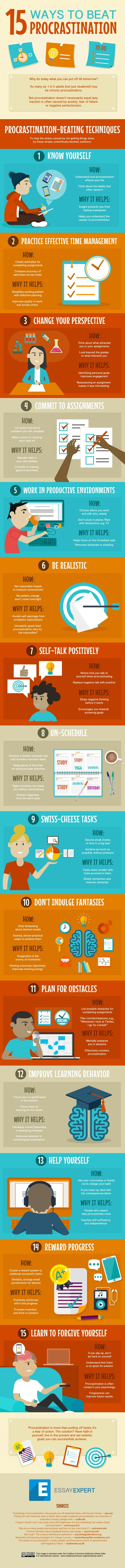 ways to overcome procrastination and get stuff done infographic 15 ways to overcome procrastination and get stuff done infographic