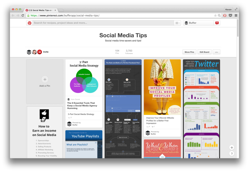 Buffer Pinterest social media tips