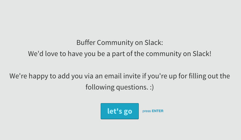 Buffer Slack community