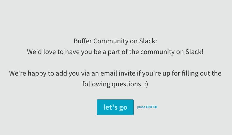 Buffer Slack community