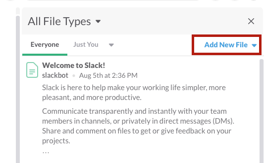 Slack add files