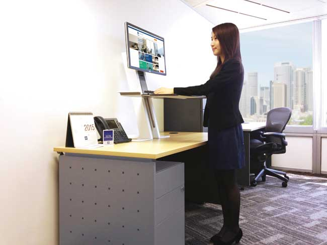 Standing revolution office space designs promoting for Office design ergonomics