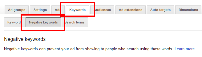 adwords-negative-keywords