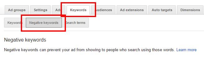 adwords-negative-keywords