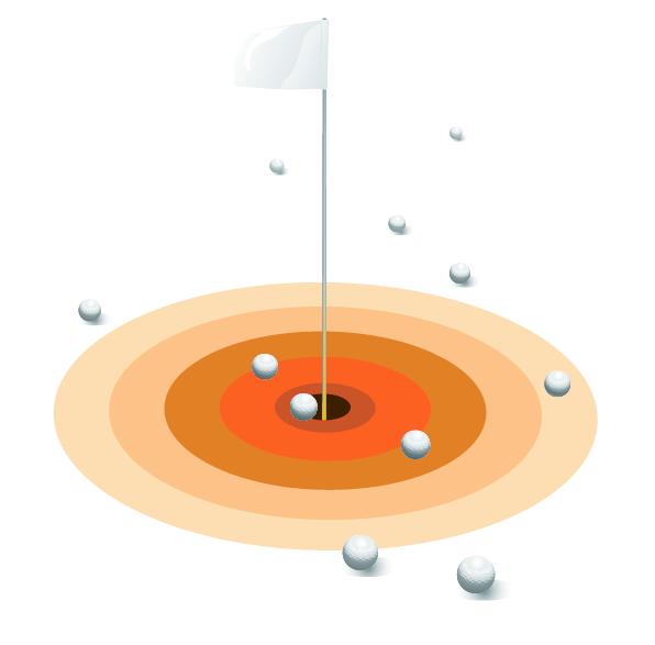 golf-flag-and-golf-balls