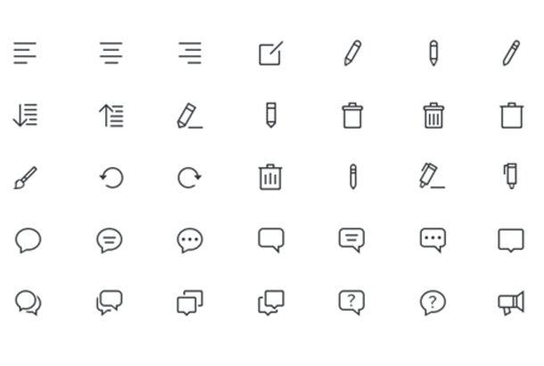 Линейные простые иконки