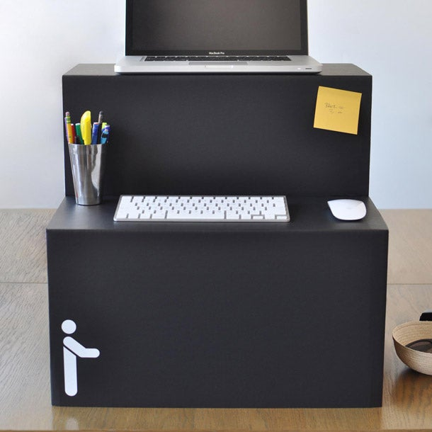 Meet The 25 Standing Desk Made Of Collapsible Cardboard