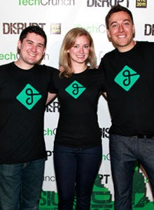 (L to R) Elliot Kroo, Jessica Scorpio, and Sam Zaid of Getaround