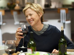 Actress Annette Bening featured with Fiddlehead Cellars wine in the Oscar-nominated Focus Features film, 'The Kids Are All Right.'
