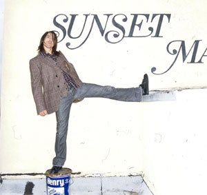 Kicking it on the roof: Anthony Kiedis, frontman of seminal L.A. band The Red Hot Chili Peppers.