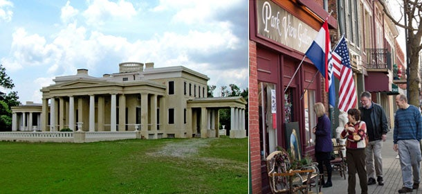 Officials in remote Demopolis, Ala. (left) and Chillicothe, Ohio, would love to attract arts entrepreneurs.