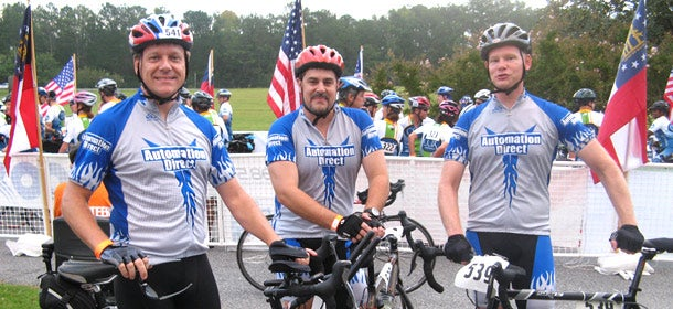 Part of AutomationDirect's DirectWellness program, employees participate in a company cycling club.