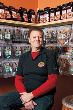 Cut-and-dried concept: The Beef Jerky Outlet's Scott Parker.