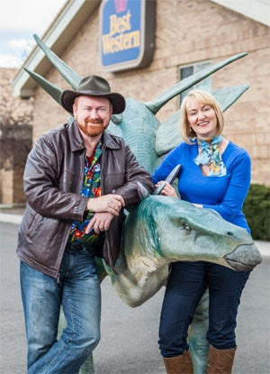 Dino-mite! Greg and Meredith Tally.