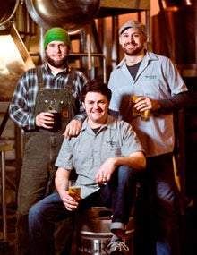 Jason McAdam, the co-founder of Burnside Brewing, mixes edible ingredients like oatmeal and coriander into his beers.