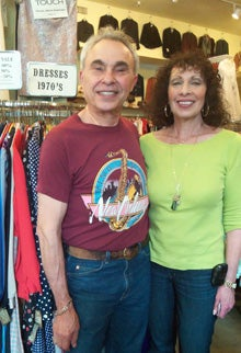 'Cheap Jack' Markus with his wife, Mona, inside their vintage clothing store.