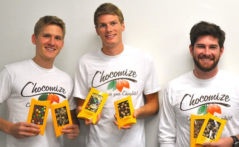 Pictured Left to Right: Chocomize.com's Co-Founders Fabian Kaempfer, Nick LaCava and Eric Heinbockel.