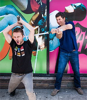 Evil twins: Chris Hardwick and Peter Levin.