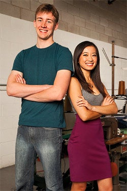 Crowdfunding sites are putting money in the pockets of budding entrepreneurs like Sam Miller and Leona Liu, founders of jeans company Civali.