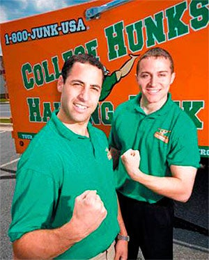 Big men on campus: Omar Soliman and Nick Friedman of College Hunks Hauling Junk