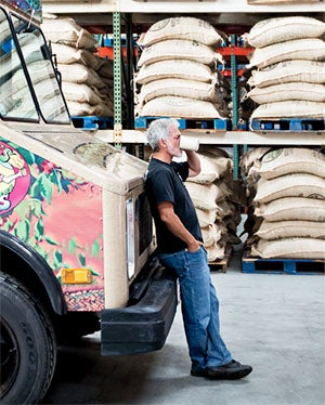 A slow brew: Dean Cycon of Dean's Beans Organic Coffee.