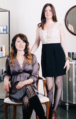 Running their own show: Deity Skin Care's Heather Allison (left) and Stephanie Carroll.